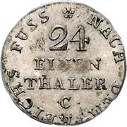 1/24 Thaler - George III. – reverse