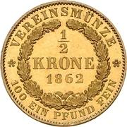 ½ Krone - Georg V – reverse