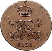 4 Pfennig - William IV. – obverse