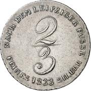 ⅔ Thaler - William IV (2/3 Ausbeutetaler) – reverse