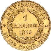 1 Krone - Georg V – reverse