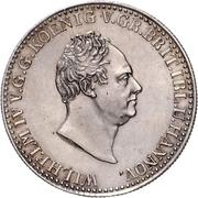 ⅔ Thaler - William IV. – obverse