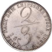 ⅔ Thaler - William IV. – reverse