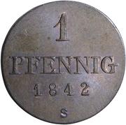 1 Pfennig - Ernst August – reverse