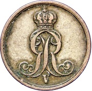 1 Pfennig - Georg V – obverse