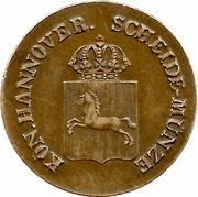 2 Pfennige - William IV – obverse