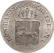 4 Pfennig - Wilhelm IV – obverse