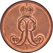 2 Pfennige - Georg V – obverse