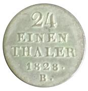 1/24 Thaler - George IV – reverse