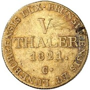 5 Thaler - Georg IV. (Harz Ausbeute) – reverse