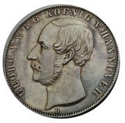 2 Thaler / 3½ Gulden - Georg V – obverse