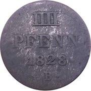 4 Pfennig - Georg IV – reverse