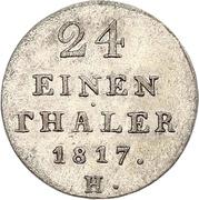1/24 Thaler - George III – reverse