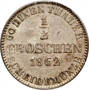 ½ Groschen - Georg V – reverse