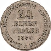 1/24 Thaler - Georg V – reverse