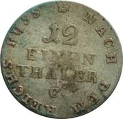 1/12 Thaler - George III – reverse