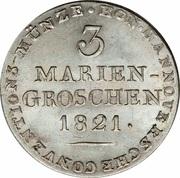 3 Mariengroschen - George IV – reverse