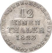 1/12 Thaler - George IV – reverse