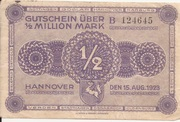 500,000 Mark (provincial joint issue of Handelskammer, Landwirtschaftskammer and Handwerkskammer Hannover) – obverse