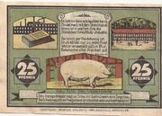 25 Pfennig (Visselhövede) – reverse