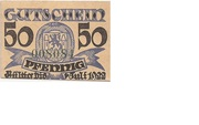 50 Pfennig (Wittingen; Kreissparkasse) – reverse