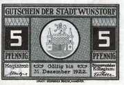 5 Pfennig (Wunstorf) – obverse