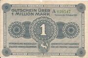 1,000,000 Mark (provincial joint issue of Handelskammer, Landwirtschaftskammer and Handwerkskammer Hannover) – obverse