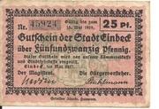 25 Pfennig (Einbeck) – obverse