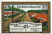 25 Pfennig (Lichtenhorst; Kriegs Gefangenen Lager) – obverse