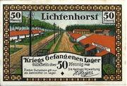 50 Pfennig (Lichtenhorst; Kriegs Gefangenen Lager) – obverse