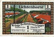1 Mark (Lichtenhorst; Kriegs Gefangenen Lager) – obverse