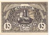 10 Heller (Hartkirchen) – obverse