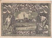 50 Heller (Hartkirchen) – obverse