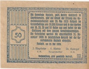 50 Heller (Haslach) -  reverse