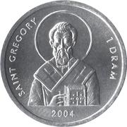 1 Dram (Saint Gregory) – reverse