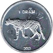 1 Dram (Leopard) – reverse