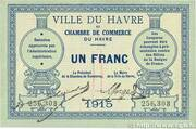 1 Franc - Chambres de Commerce du Havre – obverse
