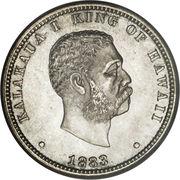 ¼ Dollar - Kalākaua I – obverse