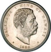½ Dollar - Kalākaua I – obverse