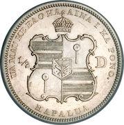 ½ Dollar - Kalākaua I – reverse