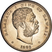 1 Dollar - Kalākaua I – obverse