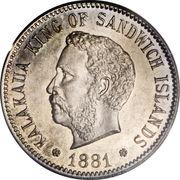 5 Cents - Kalākaua I – obverse