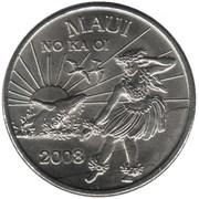 2 Maui Trade Dollars – obverse