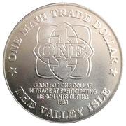 1 Maui Trade Dollar – reverse