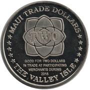 2 Maui Trade Dollars – reverse