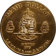 1 Maui Dollar - Chamber of Commerce – reverse