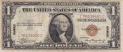 1 Dollar (Silver Certificate; Brown Seal - Hawaii) – obverse