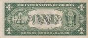 1 Dollar (Silver Certificate; Brown Seal - Hawaii) – reverse