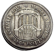 1 Ducat (200 years of the reformation; Silver pattern strike) – reverse