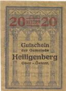 20 Heller (Heiligenberg) -  obverse